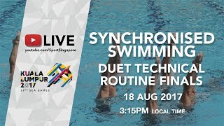 Download Synchronised Swimming Duet Technical Routine Finals | 29th SEA Games 2017 Video