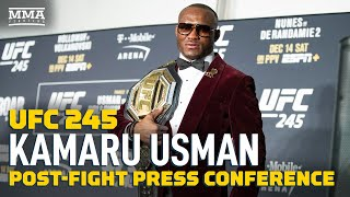 Download UFC 245: Kamaru Usman Post-Fight Press Conference - MMA Fighting Video
