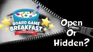 Download Board Game Breakfast - Open or Hidden? Video