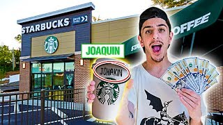 Download Giving Starbucks Employees $1,000 If They Spell My Name Right! Video