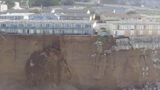 Download Cliff erosion threatens to push California homes into sea Video