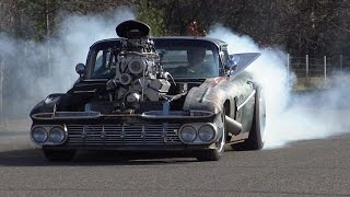 Download Driving the 800 HP Blown Hulk Camino Rat Rod (1959 El Camino) by ITW Hot Rods Video