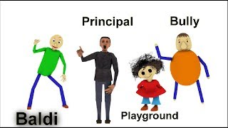 Download BALDI'S BASIC IN EDUCATION AND LEARNING OST & ALL CHARACTERS IN 3D Video