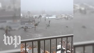 Download Sights and sounds of powerful Hurricane Michael Video