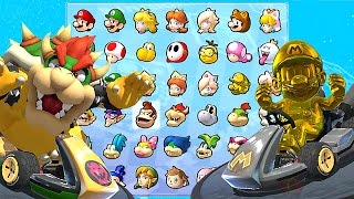 Download Mario Kart 8 Deluxe All Characters Unlocked and Golden Mario, Metal Mario, Bowser + More Video