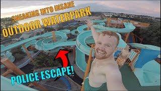 Download SNEAKING INTO HUGE OUTDOOR WATERPARK! *ESCAPE* Video