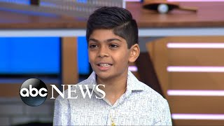Download Michael and Sara surprise Arman Shah, who paid his friends' school lunch debt Video