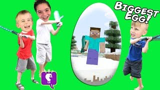 Download GIANT MINECRAFT Video Game Surprise Egg by HobbyKidsTV Video