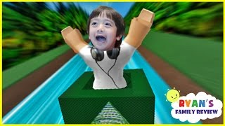 Download Ryan and Daddy Game Night! Let's Play Roblox Box Slide down with Ryan's Family Review! Video