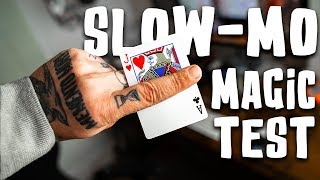 Download Sleight of Hand in SLOW MOTION - Is the hand quicker than the eye?! (Bad idea) Video