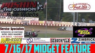 Download Angell Park Speedway - 7/16/17 - Midgets - Feature Video