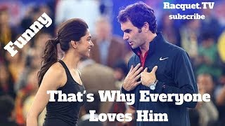 Download Tennis. Roger Federer - TOP EVER FUNNY Moments (part 1) Video