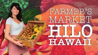 Download 🍍Hilo Hawaii Farmers Market Tour + Prices | Tropical Fruits & Crafts Video
