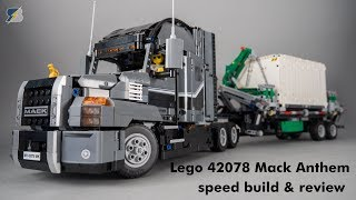 Download Lego Technic 42078 Mack Anthem unboxing, review & speed build Video