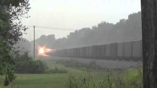 Download Norfolk Southern Trains in a Lightning Thunderstorm!! Video
