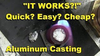 Download Surprisingly Easy Way to Cast Aluminum Video