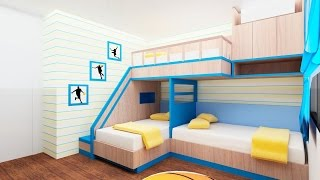 Download 30 Bunk Bed Idea for Modern Bedroom - Room Ideas Video