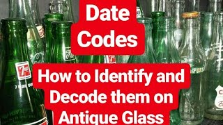 Download Antique Glass Bottles - BASIC DATE CODES EXPLAINED Video