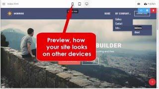 Download Dropdown Menu Extension - Mobirise Responsive Website Builder v2.11 Video