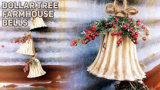 Download DIY Dollar Tree Distressed Farmhouse Bells - Decorating - Christmas 2019 Video