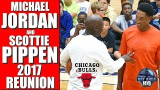 Download MICHAEL JORDAN & SCOTTIE PIPPEN 2017 REUNION ! Michael Jordan Flight School Chicago Bulls Highlights Video