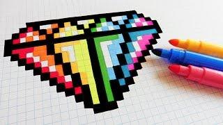 Download Handmade Pixel Art - How To Draw Rainbow Diamond #pixelart Video