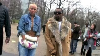 Download Kanye West and Amber Rose, Karl Lagerfeld at Dior Men Fashion Show at Bercy in Paris, France Video
