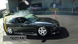 Download [HOONIGAN] DT 157: Offbeat Garage (S13 240sx) vs Keep Drifting Fun (S14 240sx) #CIRCLEJERKS Video