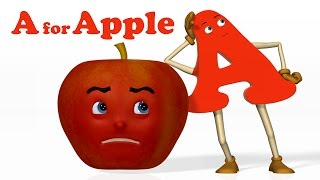 Download A for Apple | Alphabet ABC Songs | Phonics Song - 3D ABC Songs & Rhymes for Children Video