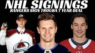 Download NHL Signings - Rangers, Habs, Avalanche Video