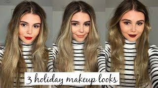 Download 3 HOLIDAY INSPIRED MAKEUP LOOKS l Olivia Jade Video