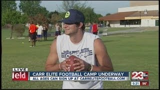 Download David Carr & Cody Kessler show how to throw a football at Carr Elite Video