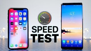 Download iPhone X vs Samsung Galaxy Note 8 SPEED Test! Video