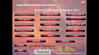 Download All In One Frp Tool Pack | All latest FRP Unlock Tools 2017 Video