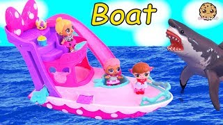 Download Boat Ride ! Lol Surprise Baby Dolls See Ocean Shark Play Toy Video Cookie Swirl C Video