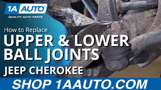 Download How to Replace Install Front Upper & Lower Ball Joints 90-01 Jeep Cherokee Video