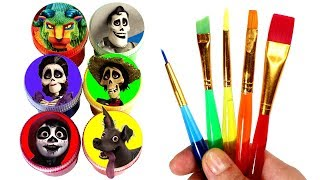 Download Disney Pixar's COCO Drawing and Painting Fun with Miguel Hector Dante Imelda Pepita Surprise Toys Video