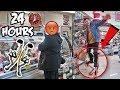 Download 24 HOUR ROBOT LEGS CHALLENGE!! (BIONIC JUMPING STILTS IN PUBLIC) Video