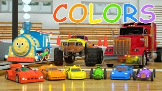 Download Learn Colors and Race Cars with Max, Bill and Pete the Truck - TOYS (Colors and Toys for Toddlers) Video