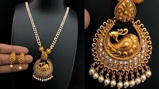 Download Pearl Necklace Gold Pendant Designs Video