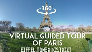 Download [360°/VR Video] Virtual guided tour of Paris : Eiffel tower District Video