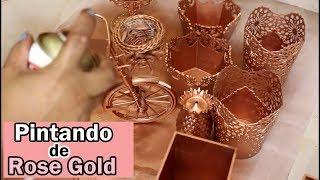 Download Pintando de rose Gold Objetos de decoração  Tumblr Video