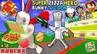 Download ROBLOX Super Pizza Hero Easter Bunny Tycoon! FGTEEV #18 Superhero Eggs w/ Hulkbuster Video