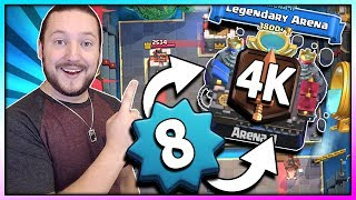 Download LEVEL 8 in LEGENDARY ARENA 11!! PUSH TO 4K TROPHY!! - Clash Royale Road to Challenger 1 Video