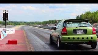 Download 10 seconds 500whp Stock sleeve turbo TypeR Miramichi dragway Video