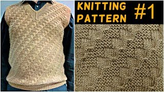 Download Knitting pattern and full measurements for gents half sweater Video