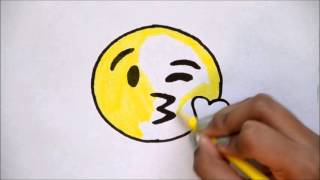 Download How to Draw the Kissing Emoji - For Beginners Video