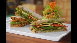 Download Pesto Sandwich with Grilled Vegetables | New Season | Cooksmart | Sanjeev Kapoor Khazana Video