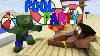 Download Monster School: POOL PARTY CHALLENGE - Minecraft Animation Video