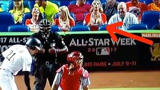 Download Fine Ass Marlins Fan DISTRACTS Cardinals Pitcher with Her Boobs Video